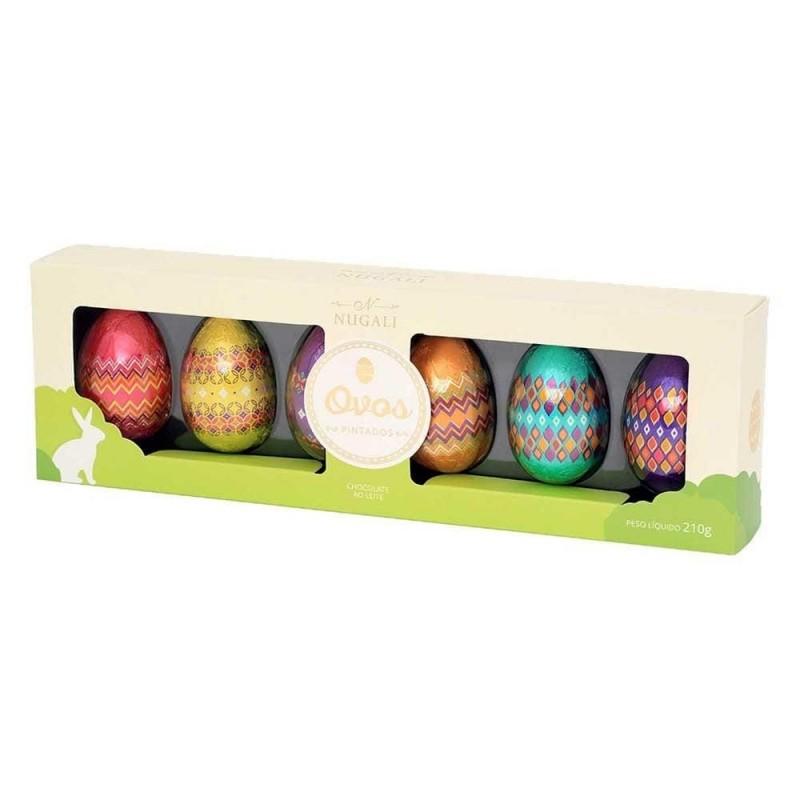 Caixa Ovos Pintados de Chocolate ao Leite Nugali 210g