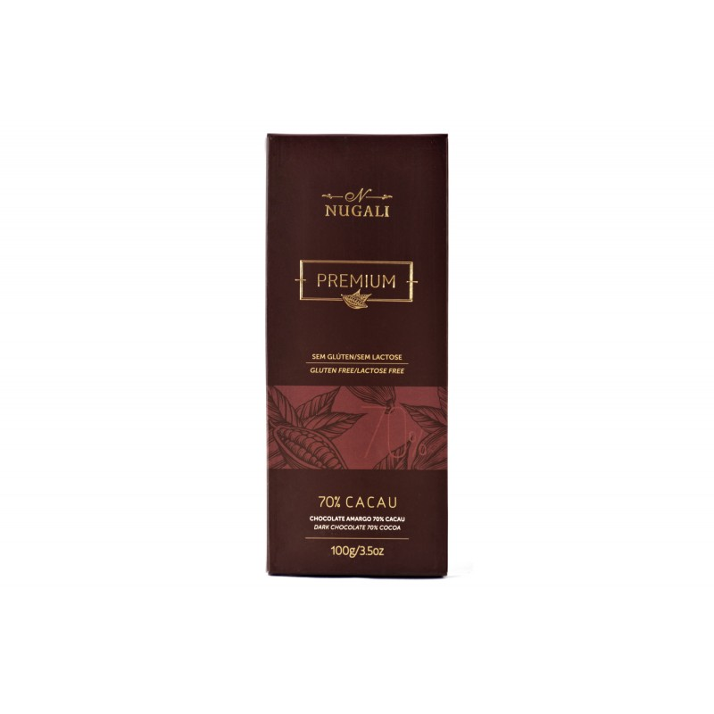 Chocolate Amargo 70% Cacau Nugali 100g
