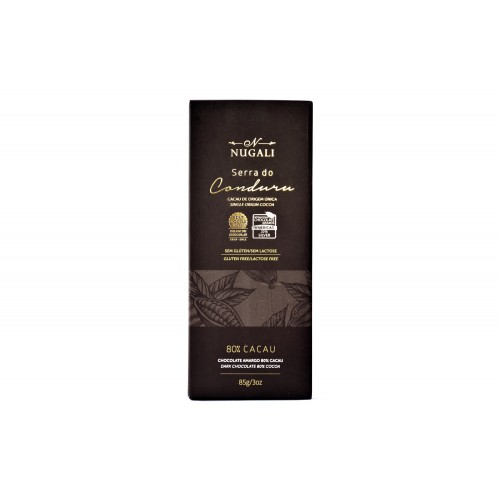 Chocolate Amargo 80% Cacau Serra do Conduru Nugali 85g