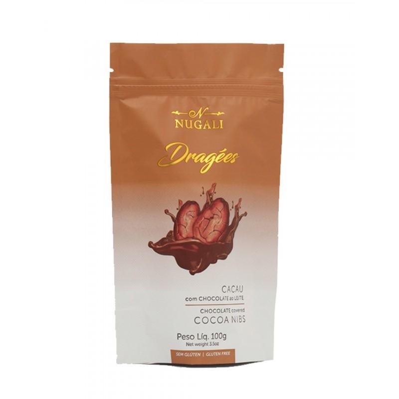 Dragees Cacau com Chocolate ao Leite Nugali 100g