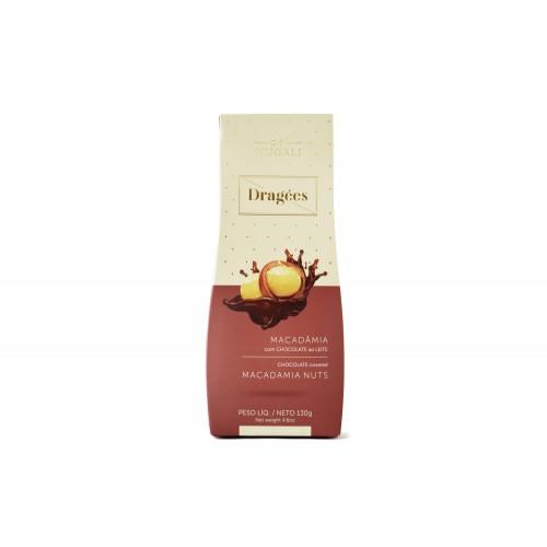 Dragees Macadâmia com Chocolate ao Leite Nugali 100g