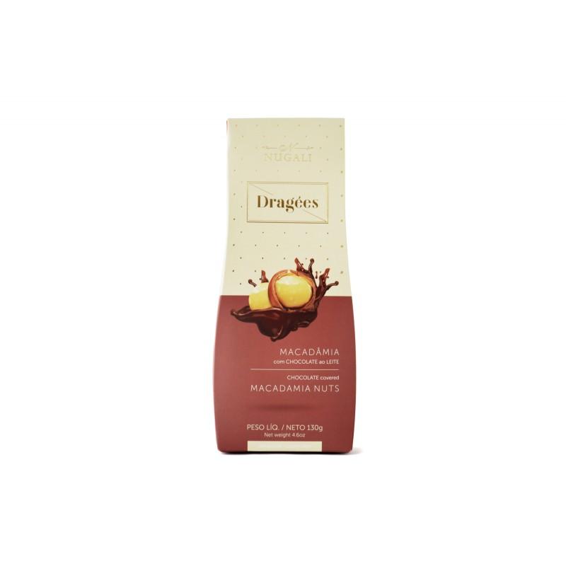 Dragees Macadâmia com Chocolate ao Leite Nugali 130g