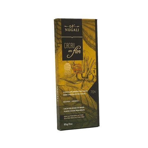 Chocolate Amargo 70% Cacau em Flor Nugali 100g