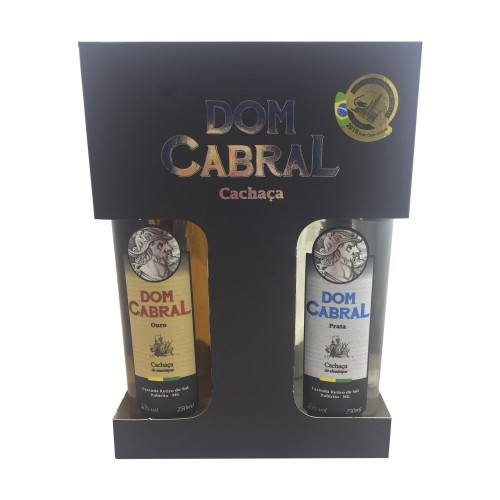 Kit Cachaça Dom CabraL 2 x 250ml