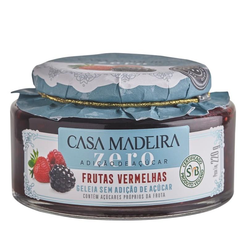 Geleia de Frutas Vermelhas Zero Açúcar Casa Madeira 240g