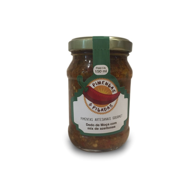 Pimenta Dedo de Moça com Mix de Azeitonas Pimentas e Pitadas 150g