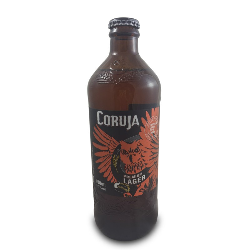Cerveja Coruja Premium Lager 500ml