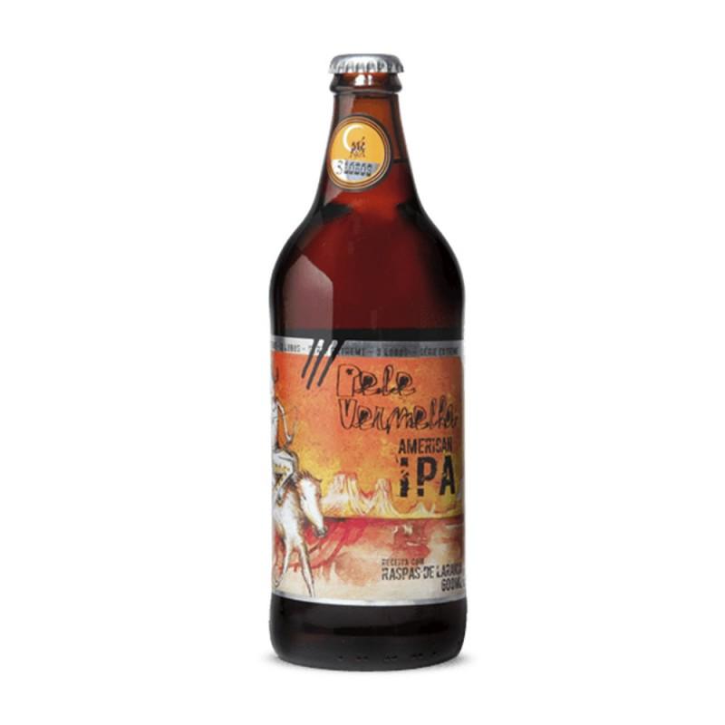 Cerveja Pele Vermelha IPA Tres Lobos Backer 600ml