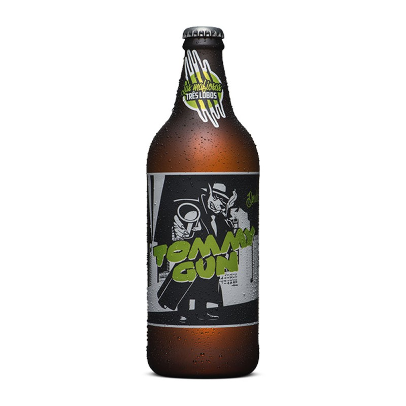 Cerveja Tommy Gun Tres Lobos Backer 600ml