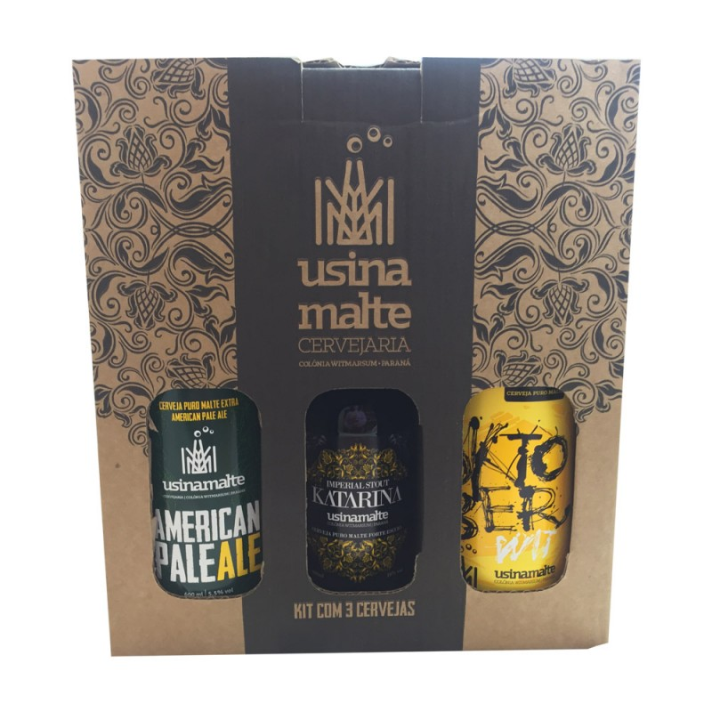 Kit 3 Cervejas Usinamalte