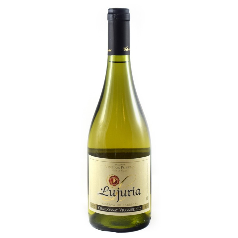 Vinho Branco Lujuria Chardonnay Viognier - Vinedo Puertas 750ml