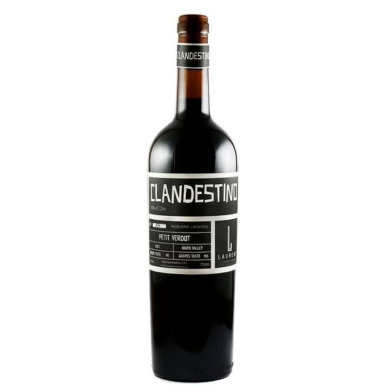 Vinho Tinto Clandestino Petit Verdot Laurent Wines 750ml